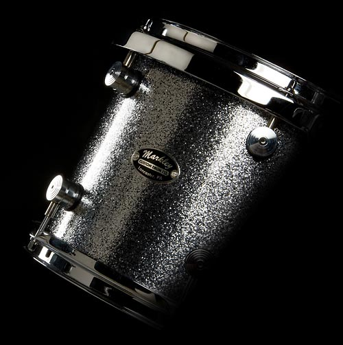Markley Signature Birch Series Detail View - Silver Sparkle Lacquer Kit